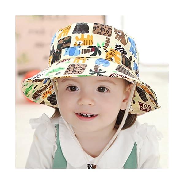 Cloud Kids Bob - Sombrero para bebé, unisex, algodón, protección contra rayos UV, verano, plegable, viaje 2