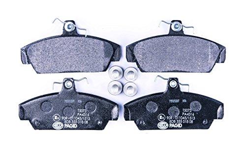 Essieu avant frein /à disque HELLA PAGID 8DB 355 016-231 Kit de plaquettes de frein