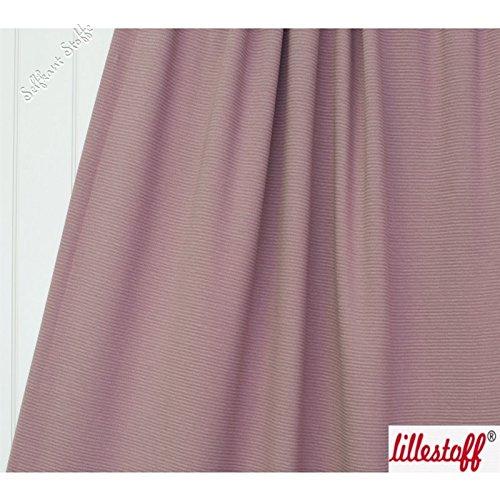 Lillestoffe® (17,90 €/M) Sommersweat, Meterware ab 50cm gerippt - Altrosa (Bio-baumwolle Gerippt)