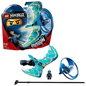 LEGO 70646 Ninjago Jay Dragon Master Flying Toy, Easy to Fly Glider for Kids