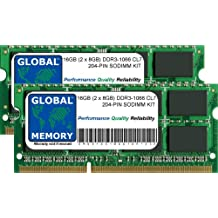 16GB (2 x 8GB) DDR3 1066MHz PC3-8500 204-PIN SODIMM MEMORIA RAM KIT PARA MACBOOK & MACBOOK PRO 13 PULGADAS (MEDIADOS 2010)