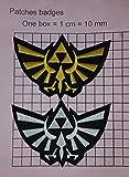 Patches Legend of Zelda Hyrule-Royal Crest 10,2cm Patch Set von 2
