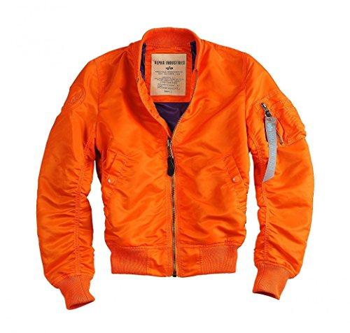 Alpha Industries Jacke MA-1 VF LW Wmn, Größe:L, Farbe:orange