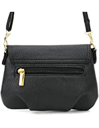Bolso de Bandolera para Mujer con solapa Tamaño Pequeña Color Negro
