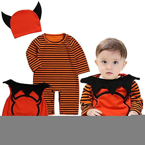 Uleade Kinder Kleinkind Baby Halloween Niedliche kleine Teufel Fantastische Kostüm Neugeborene Spielanzug Bodysuit Outfits (3 (Teufel Kleiner Kleinkinder Kostüme)
