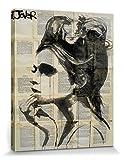 1art1 87730 Loui Jover - Etheral Poster Leinwandbild auf Keilrahmen 50 x 40 cm