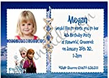 Eternal Design 10 x personalisierbar Kids Birthday Party Foto Einladungen. Elsa & Anna Frozen 5