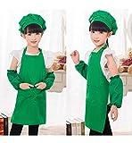 sinco unisexe enfants peinture cuisine cuisson tablier de jardinage tablier personnalis? ensemble xl green