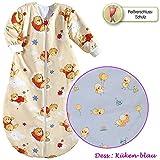 Baby Nice bei Odenwälder wattierter Schlafsack mit Ärmeln 110 cm Design Küken-hellblau