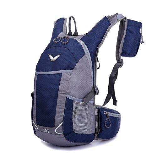 sfeibo leggero pratico zaino scuola studente–Fanny Zaino Outdoor Sport Ciclismo Campeggio Escursionismo Arrampicata stampato borsa da viaggio in nylon impermeabile Pack, blu scuro blu scuro