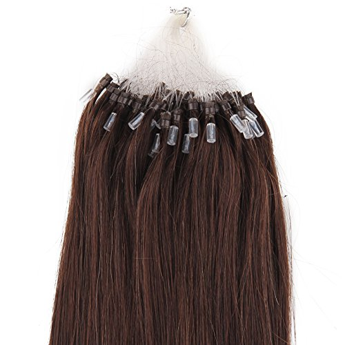 Beauty7 - 50 STK Echthaarstraehnen Remy Echthaar Haarverlaengerung Loop Micro Ring Microring Haare 55cm Echthaar Extensions 1g Straehnen 22