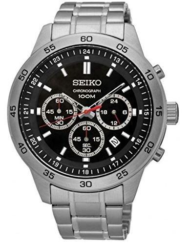 Seiko Relojes Hombre Neo Sport Cronógrafo Acero inoxidable reloj