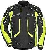 Tourmaster Advanced Men's Textile Motorcycle Jacket (Black/Hi-Viz, Tall XX-Large)