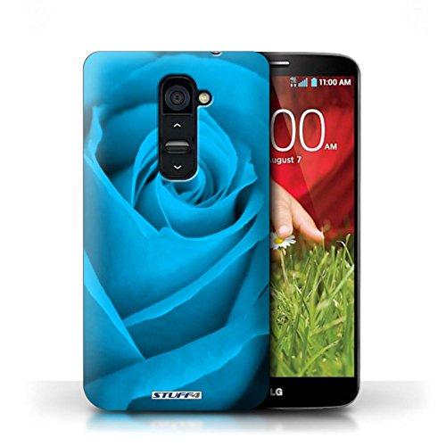 Kobalt® Imprimé Etui / Coque pour LG G2 / Pourpre conception / Série Rose Bleu