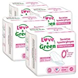 Love & Green Serviettes Hypoallergéniques Normal 0% x 14 - Lot de 4