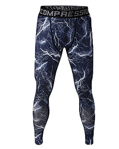 Pantaloni a Compressione Jogging per Uomo Thermo-Dynamic Lunghi con Funzione Quick Dry Come Immagine