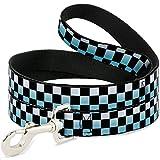 Buckle Down dl-w32916Checker schwarz/Ombre türkis Pet Leine, 4'lang–2,5cm breit