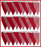 3 mtrs gingham mix fabric bunting - choice of colours (red)