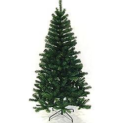 Hengda® Árbol de Navidad Artificial PINOS único Árbol Decorativo con soporte metálico Christmas 180CM Verde con 650ramas material PVC