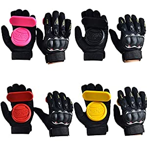 Beautyrain Skateboard Handschuhe Protektor Armschutz Dickere Foam Downhill Freeride Slide Sliding Schutz Palm Slider…