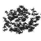 50 Pezzi Insetti Realistici di Plastica Ragno Falso Scarafaggi Vermi di Halloween Divertente Scherzo Decorazione di Favore Puntelli