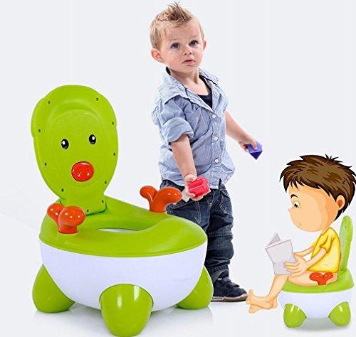 HM Baby Kinder Wc Toilette Baby Wc Männlich und Weiblich Baby Wc Kleine Toilette Toilette Toilette Schüssel,Gras-Grün