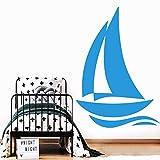 Pegatinas de pared de barco Comedor Comido Wallpaper Para Habitaciones de Niños Pvc Tatuajes de pared Vinilo Decorativo Muursti XL 57 cm X 81 cm