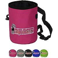 ALPIDEX Bolsa de magnesio con cinturón Highfly, Color:Pink Power