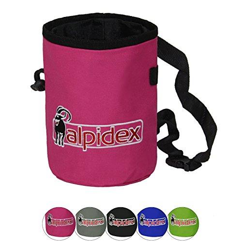 ALPIDEX Chalkbag Highfly inklusive Hüftgurt, Farbe:Pink Power