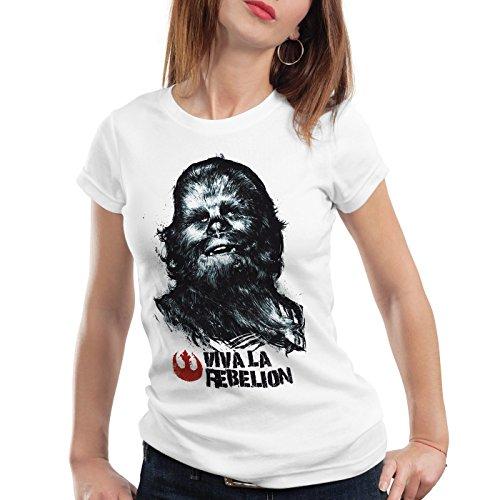 ion Damen T-Shirt rebellion guevara revolution, Farbe:Weiß;Größe:L (Weibliche Yoda)