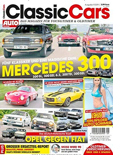 "Auto Zeitung Classic Cars 9/2019 \""Mercedes 300\"""