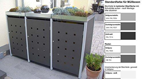 #Mülltonnenverkleidung Mülltonnenbox Müllboxen Metall#