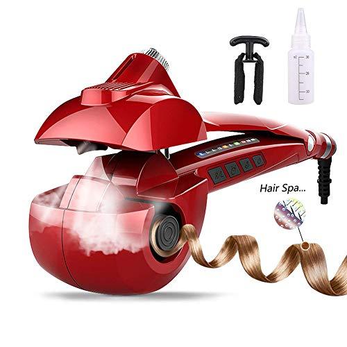Automatisches HaardampfCurler Curler Ceramic Curling Eisernen Bar Salon Professional Car drehende Styling Steamer Spray Curl Spiral-Maschine mit LED-Digital Display - Hot Curl-bürste