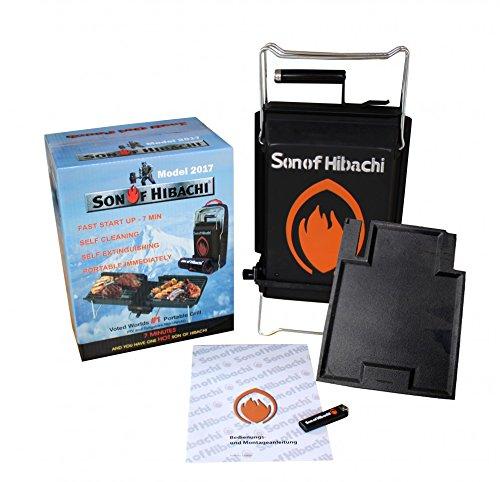 Son of Hibachi® klappbarer Holzkohlegrill Modell inkl. zusätzlicher Grillplatte im Set -