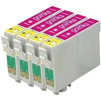 4 Compatibile Magenta Cartuccia stampante per sostituire T0442 per l'uso in Epson Stylus C64, C64 Photo Edition, C66, C68, C84, C84 Photo Edition, C84N, C84WN, C86, C86 Photo Edition, CX3600, CX3650, CX4600, CX6400, CX6600
