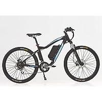 Sport Cronos-Bicicleta eléctrica, color negro y azul, 48 V-10,