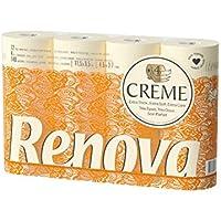Renova Papel higiénico 4 Capas Crema Perfumado - 12 rollos de papel