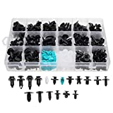 RISHIL WORLD 299Pcs 18 Size Automotive Car Plastic Pushpin Rivet Trim Clip Assortment Kit