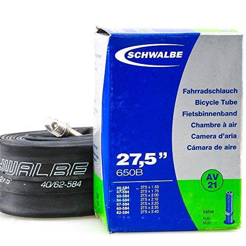 Schwalbe Bicycle tubo-40mm Schraeder/Auto (27.5x 1.5-2.40-40mm Schraeder-AV21) by Schwalbe