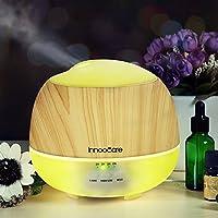 InnooCare Aroma Diffuser 500ml Luftbefeuchter Öl Ultraschall Düfte Humidifier Holzmaserung LED mit 7 Farben für... preisvergleich bei billige-tabletten.eu