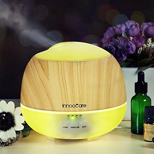 Innoo Tech, InnooCare - Diffusore di Aromi a Ultrasuoni, in ABS e PP, Effetto legno, 500 ml