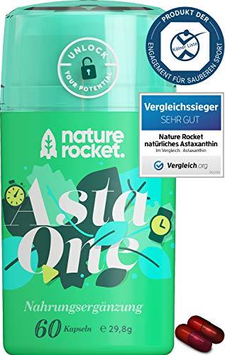 Natürliches Premium Astaxanthin 4mg | Vegetarisches Nahrungsergänzungsmittel | 60 Kapseln | Hergestellt in Deutschland