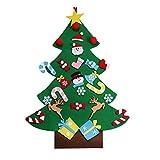 QQPOWER STORE qqpower DIY Albero di Natale di feltro regalo per bambini decorazioni sospese decorazioni da parete