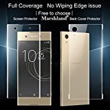 Sony Xperia Xa1 Screen Guard Front & Back Protector 0.2mm 3D Full Cover Design High Quality Premium Anti-Shock HD Transparent Anti-Oil Coating Anti-Broken Made For Sony Xperia Xa1 By Marshland®