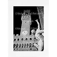 Archivio Foto Locchi Firenze – Stampa Fine Art su passepartout 50x70cm. – Immagine di Palazzo Vecchio a Firenze negli anni '30