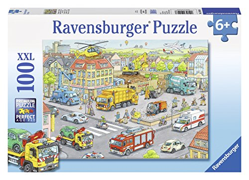 Ravensburger 10558 - Super Veicoli in Città Puzzle, 100 Pezzi