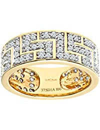 Naava Damen-Ring 9 Karat (375) Weißgold 9 Diamanten PR08090W Tanz-P-p