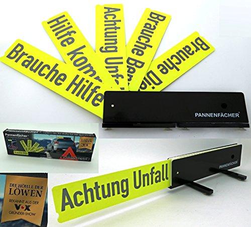 heimtexland Pannenfächer Warnschild 5in1 reflektierend Auto Pannenhilfe aus Höhle der Löwen für mehr Sicherheit Warndreieck Typ547
