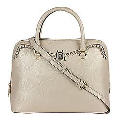 Da Milano LB-4205 Light Gold Leather Handbag