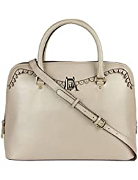 Da Milano LB-4205 Light Gold Leather Handbag